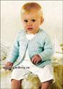 Голубая кофточка с косами для малышки. Спицы