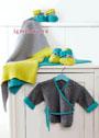 Для новорожденного: плед, распашонка и пинетки из мериносовой шерсти. Спицы