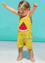 Желтый песочник на бретелях для малыша 3-12 месяцев. Спицы