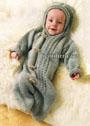 Теплый конверт из мериносовой шерсти, для малыша в возрасте до 1 года. Спицы