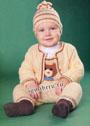 Для малыша 6-12 месяцев. Комплект из комбинезона, кофточки и шапочки с мишками. Спицы и крючок