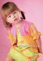 Для малышки 2 лет. Розово-желтая кофточка. Спицы
