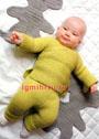 Для малыша 3-9 месяцев. Теплый комплект из кофточки и штанишек. Спицы