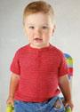 Для малыша 2 лет. Красный летний пуловер поло. Крючок