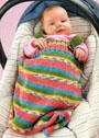Для малыша 1-6 месяцев. Спальный мешок с застежкой на 2 пуговицы. Спицы