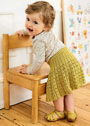 Расклешенная юбочка для малышки 1-2 лет. Спицы