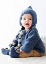 Для малыша в возрасте до 12 месяцев. Пуловер с капюшоном, шарфик и пинетки. Спицы