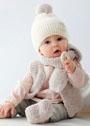 Для малышей в возрасте до 12 месяцев. Комплект из фасонной пряжи с эффектом плюша. Спицы