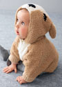 Для малыша 3-24 месяцев. Пончо с капюшоном Бэмби. Спицы