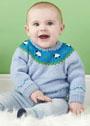 Для малышей в возрасте до 2 лет. Пуловер с кокеткой, украшенной овечками. Спицы