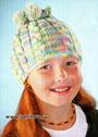 Трансформер: шапочка и шарф-труба с косами, для девочки 6-9 лет. Спицы
