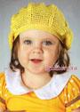 Желтый летний берет для девочки. Крючок