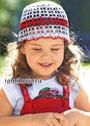 Летняя ажурная шапочка для девочки. Крючок