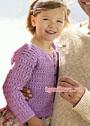Сиреневая ажурная кофточка для девочки 2-10 лет. Крючок