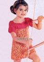 Для девочки 6 лет. Летнее платье Веселый огонек. Крючок