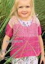 Для девочки в возрасте от 1,5 до 7 лет. Летний пуловер-распашонка в розовых тонах. Крючок