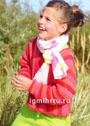 Для девочки 4-10 лет. Малиново-розовый пуловер, связанный поперек. Спицы