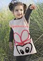 Для девочки 1,5-7 лет. Платье с мотивом Мышка. Спицы