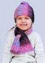 Для маленькой девочки. Теплый комплект из шапочки и шарфа с косами. Спицы
