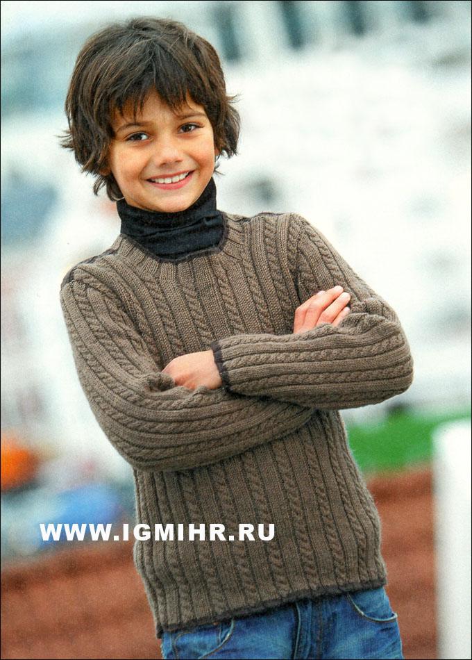 вязаные свитера для мальчиков большая подборка схем и описаний 4