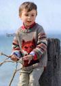 Шерстяной пуловер с лисой, для мальчика 3-9 лет. Спицы