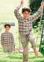Пуловер в клетку для мальчика 4-12 лет. Спицы