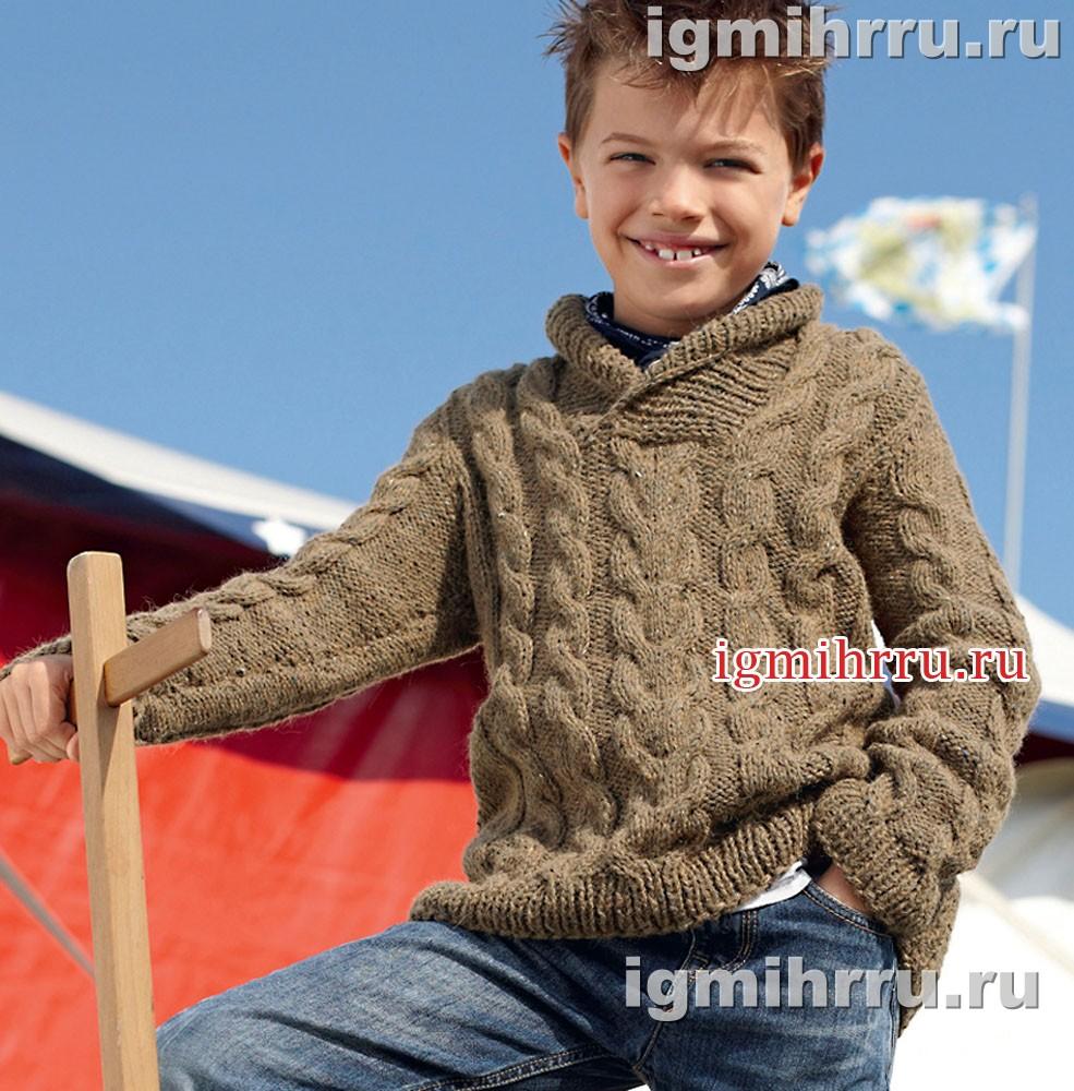 Вязание спицами пуловер мальчик 5 лет