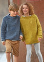 Для  мальчика и девочки 8-12 лет. Пуловер с узором из спущенных петель. Спицы