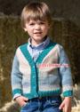 Для мальчика 1,5-9 лет. Шерстяной жакет с жаккардовым узором. Спицы