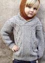Для мальчика 2-12 лет. Теплый пуловер с арановыми полосами. Крючок