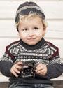 Для мальчика 1-8 лет. Пуловер и шапочка с жаккардовыми узорами. Спицы
