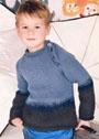 Для мальчика 4-10 лет. Джемпер в цветах денима. Спицы