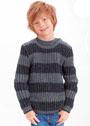 Для мальчика 3-10 лет. Пуловер с патентным узором и застежкой на плече. Спицы