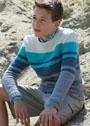 Для мальчика 10-15 лет. Универсальный пуловер в полоску. Спицы