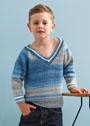 Для мальчика 4-11 лет. Пуловер с полупатентным узором. Спицы