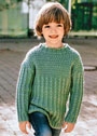 Для мальчика 1,5-9 лет. Пуловер с косами и структурным узором. Спицы