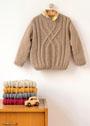 Детский пуловер с арановым узором. Спицы