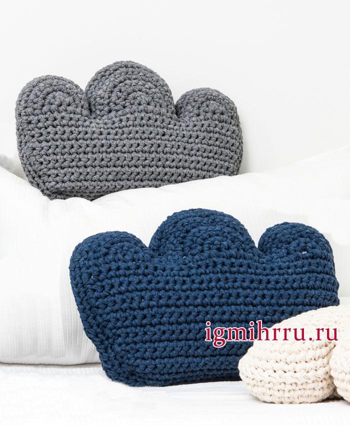 Подушка Облачко, от финских дизайнеров. Вязание крючком
