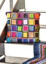 Чехол для подушки из разноцветных прямоугольников. Крючок
