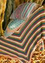 Декоративные многоцветные подушки. Спицы