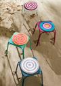 Круглые сидушки-подушки на стул. Крючок