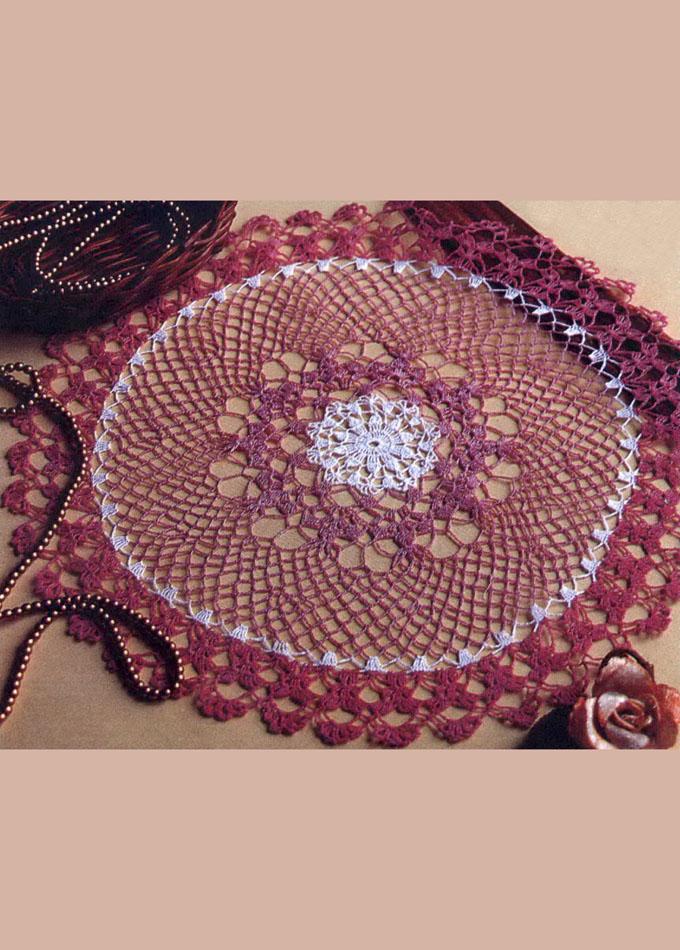 Цветная салфетка. Ажурное вязание. Крючок