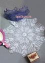 Салфетка белого цвета. Филейное вязание. Крючок