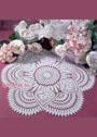 Белая салфетка с мотивами из роз. Крючок