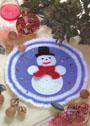 В подарок к Новому Году! Салфетка Снеговик. Крючок