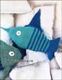 Игрушка-подушка: полосатая рыба-меч