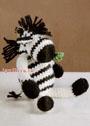 Симпатичная маленькая зебра. Крючок