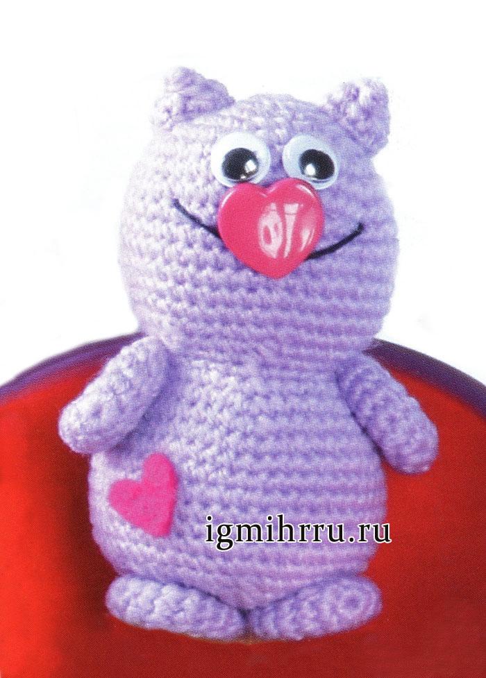 Игрушка Мартовский кот. Вязание крючком