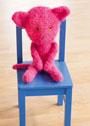 Ярко-розовая игрушка: Кот Карло. Крючок