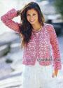Женственный летний жакет розового цвета. Крючок